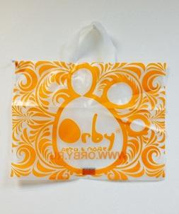 пакет с логотипом петлевой ручкой
